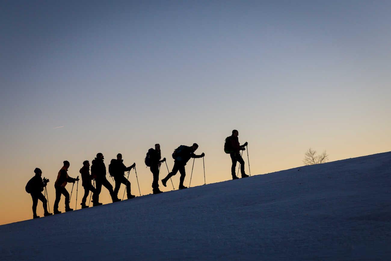 gite escursioni organizzate ciaspole neve camminate vicino Milano Como Varese Novara Vercelli Biella