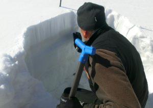 evidenza degli strati di neve