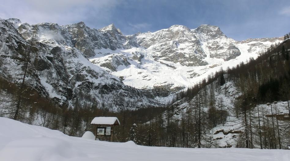 Monte Rosa dall'alpe Pile
